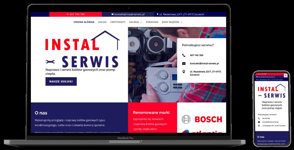 screen strony internetowej instal-serwis.pl